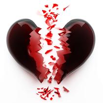 Картинки: разбитое сердце. Символ безответной любви - фото и картинки